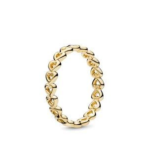 PANDORA Linked Love 14K Yellow Gold Ring
